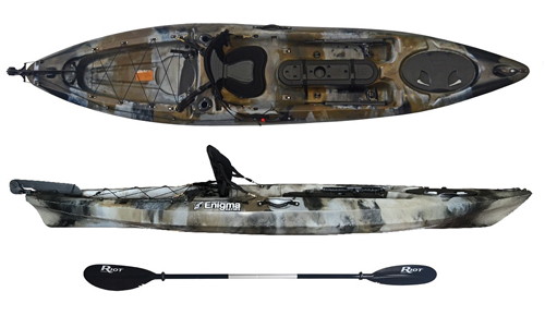Enigma Kayaks Fishing Pro 12 deluxe package