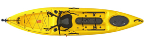 Yellow colour in the enigma Kayaks Fishing Pro 12