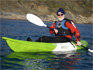 Feelfree Nomad Sport kayak being paddled by Duffer