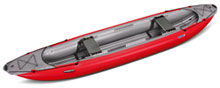 Gumotext Palava inflatable canoe in red