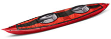 Gumotex Seawave tandem inflatable kayak with 2 seats