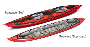 Seawave inflatable kayak from Gumotex