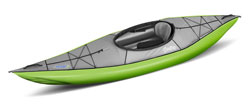 Gumotext Swing 1 inflatable kayak in green