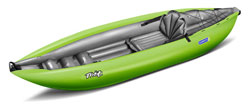Gumotext Twist 1 inflatable kayak in green