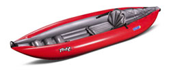 Gumotext Twist 1 inflatable kayak in red