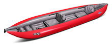 Gumotext Twist 2 inflatable kayak in red