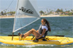 Hobie i12s fitted with a sail kit