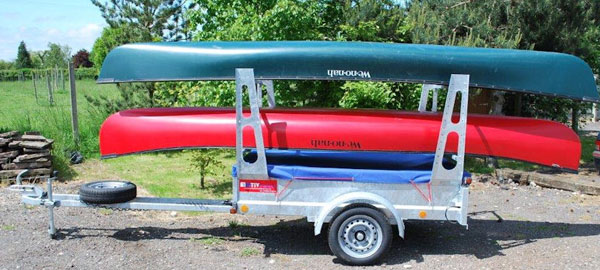 Canoe Camping Trailer for canoes, kayaks and sit on tops