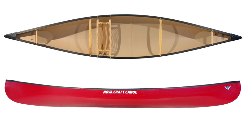 Top And Side View Of The Nova Craft Fox 14 Canoe