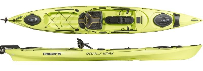 Ocean kayaks trident 15 angler 2017 fishing kayaks for 2017 fishing kayaks