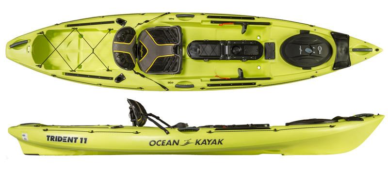 Ocean kayak trident 11 angler fishing kayaks for Fishing kayak brands