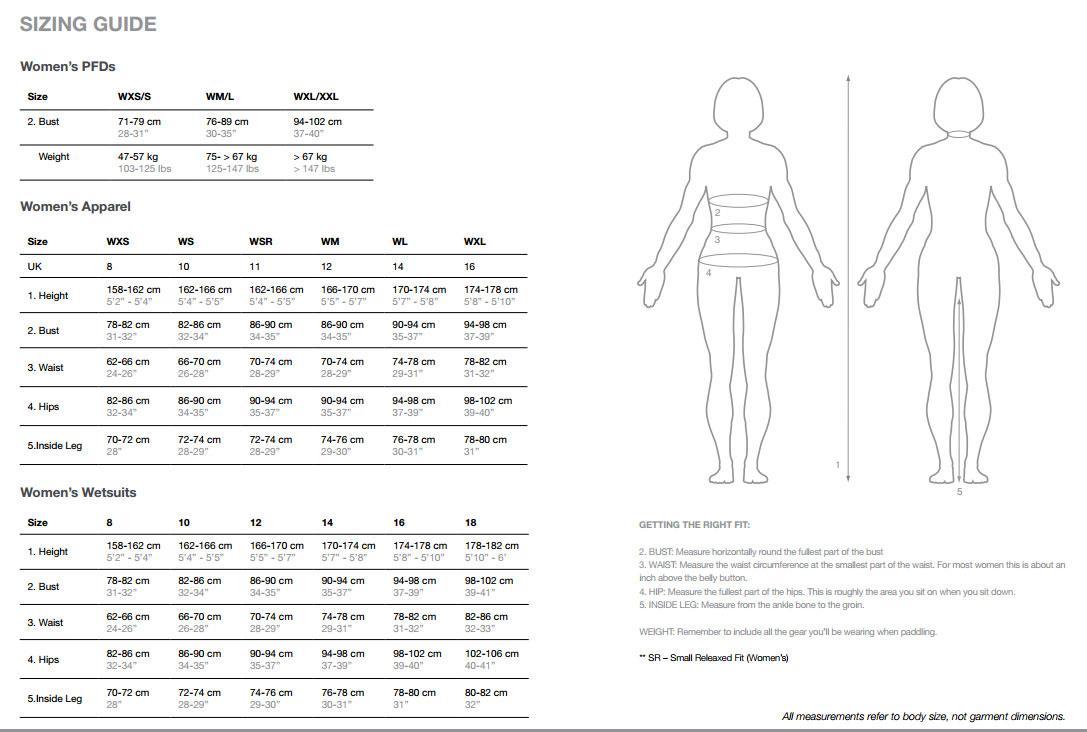 Women Pant Size Chart