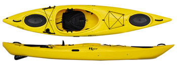 Riot Enduro 12 touring kayak with a skeg
