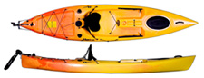 Riot Escape 12 sit on top kayak with rudder