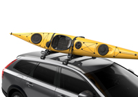 The padded cradles securley accomadate your kayak