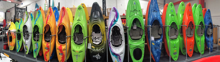 White water kayaks for sale at Manchester Canoes